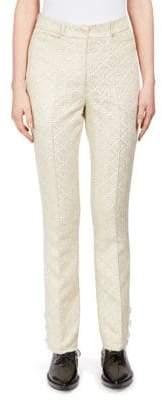 Simone Rocha Floral-Jacquard Trousers