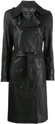 Arma slim-fit trench coat