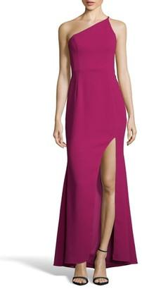 Xscape Evenings One-Shoulder Crepe Evening Dress