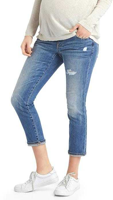 GapAUTHENTIC 1969 demi panel distressed best girlfriend jeans