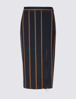 Limited Edition Striped Pencil Midi Skirt