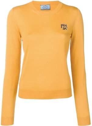 Prada logo knit sweater