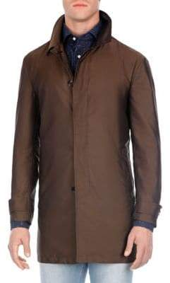Isaia Mid-Length Raincoat