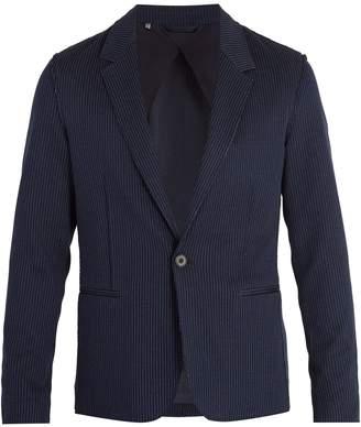 Lanvin Single-breasted pinstriped cotton blazer
