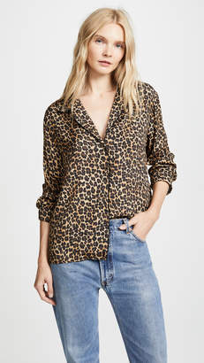 Three Dots Leopard Print PJ Top