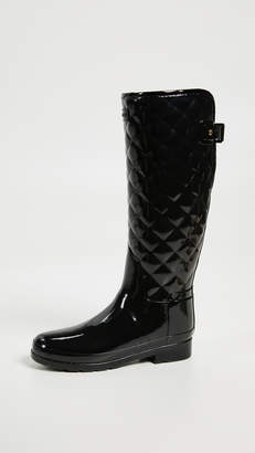Hunter Boots Refined Gloss Quilt Tall Boots