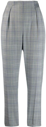 Paul Smith high waisted checked trousers