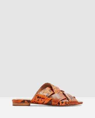 Topshop Hop Neon Flat Sandals