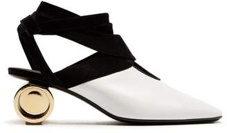 J.W.Anderson Cylinder Heel Leather Mules - Womens - White