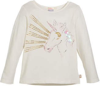 Billieblush Embellished Unicorn Tee, Size 4-8