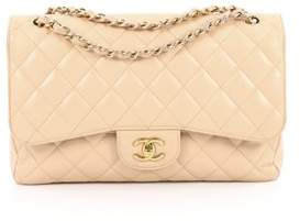 Chanel Pre-owned: Classic Double Flap Bag Quilted Caviar Jumbo.