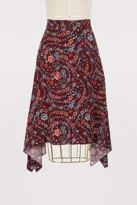 See by Chloe Printed midi skirt