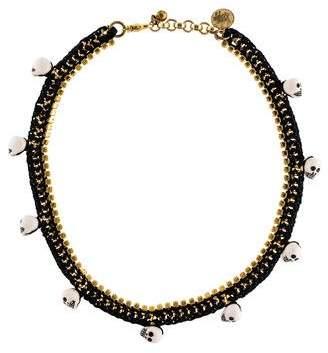 Vanessa Arizaga Fool's Gold Skull Bead Necklace