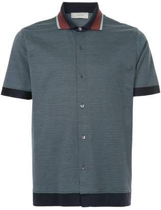 Cerruti contrast collar polo shirt