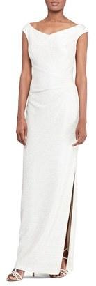 Women's Lauren Ralph Lauren Woven Column Gown $210 thestylecure.com
