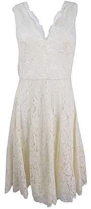 Vera Wang Women's Sleeveless Lace Cocktail Dress