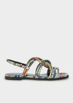 Paul Smith Women's 'Snake Swirl' Leather 'Carlin' Sandals