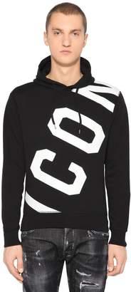 DSQUARED2 Icon Printed Jersey Sweatshirt Hoodie