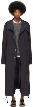 Issey Miyake Black Nylon Taffeta Coat