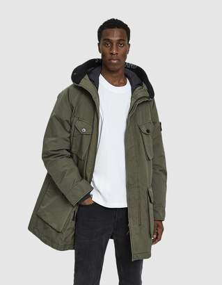 Stone Island David TC Down Hooded Coat in Olive