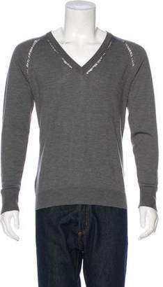 Christian Dior 2007 Wool V-Neck Sweatshirt