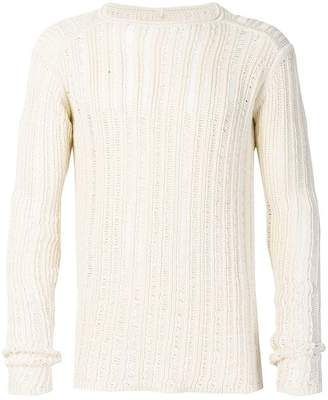 Rick Owens ribbed open knit sweater