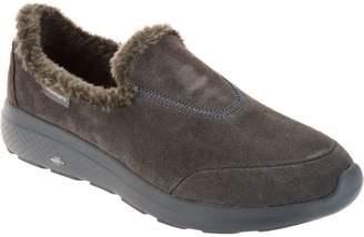Skechers GOwalk Suede Faux Fur Shoes - Captivating