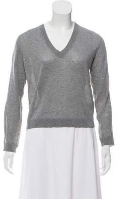 Dolce & Gabbana Silk-Accented Knit Top