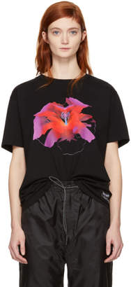 Marcelo Burlon County of Milan Black Red Flower T-Shirt