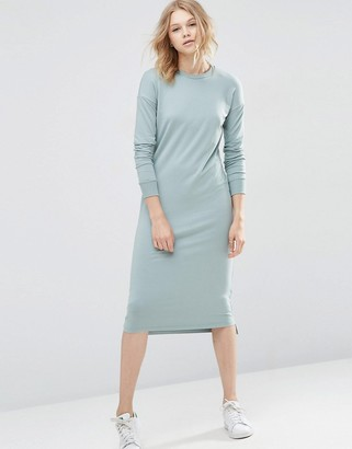 ASOS Column Sweat Dress with High Neck $43 thestylecure.com