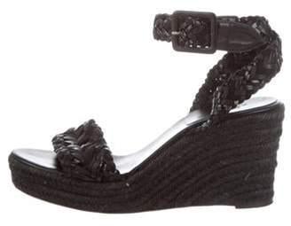 Hermà ̈s Woven Wedge Sandals Black Hermà ̈s Woven Wedge Sandals