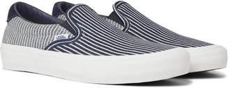 Vans 59 Lx Suede-Trimmed Striped Denim Slip-On Sneakers