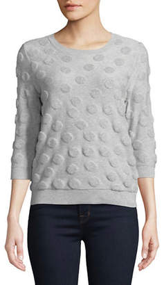 Lord & Taylor Petite Shadow French Terry Sweater