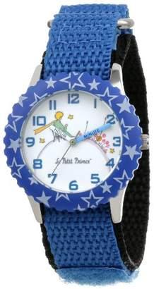 EWatchFactory Little Prince Kids' W000807 Stainless Steel Time Teacher Blue Stars Bezel Blue Velcro Strap Watch