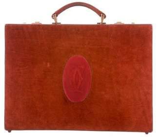 Cartier Vintage Suede Briefcase