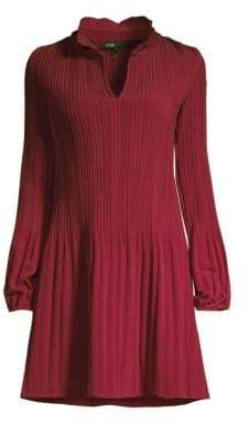 Maje Pleated Mini Dress