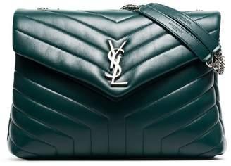 Saint Laurent Green loulou quilted leather shoulder bag