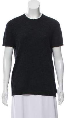 Theyskens' Theory Wool-Blend Short Sleeve Top