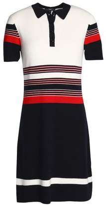 Rag & Bone Color-Block Merino Wool Shirt Dress