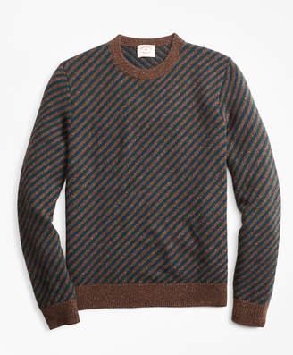 Brooks Brothers Diagonal-Stripe Alpaca-Blend Crewneck Sweater