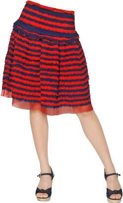 Maurizio Pecoraro Ruffled Chiffon Skirt