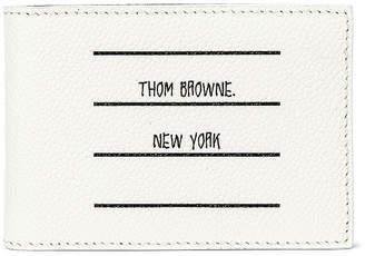 Thom Browne Money Clip Wallet in Black   FWRD