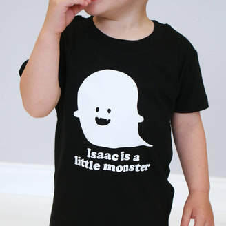 b1a578c1e Sparks And Daughters Personalised Little Monster Halloween Kid's Tshirt