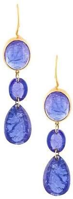Marie Helene De Taillac triple stones earrings