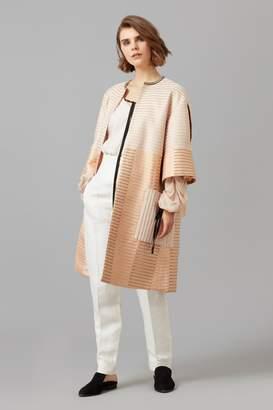 Amanda Wakeley Rose Gold Metallic Jacquard Coat