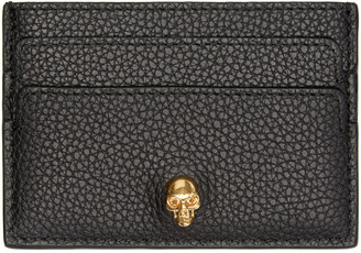 Alexander McQueen Black Skull Card Holder $175 thestylecure.com