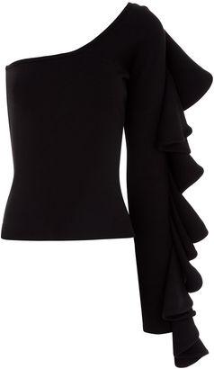 Beaufille Black Electra One Shoulder Top