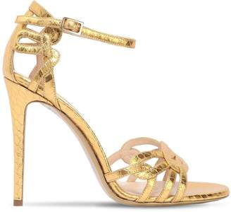 Ernesto Esposito 105mm Embossed Metallic Leather Sandals