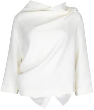 Roland Mouret Oscar Ivory Wool Crepe Top