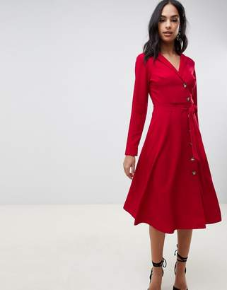 Asos Design DESIGN midi shirt dress with buttons